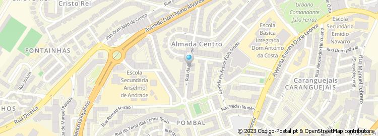 mapa das ruas de almada Código Postal da Rua da Liberdade   Almada mapa das ruas de almada