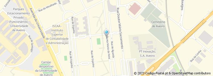 mapa das ruas de aveiro Código Postal da Rua de Santa Maria da Feira   Aveiro mapa das ruas de aveiro
