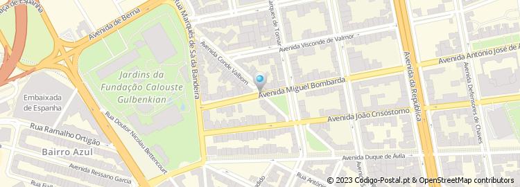 av visconde valmor lisboa mapa Código Postal da Avenida Conde de Valbom   Lisboa av visconde valmor lisboa mapa