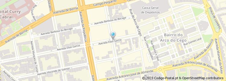 av elias garcia lisboa mapa Código Postal da Avenida Elias Garcia   Lisboa av elias garcia lisboa mapa