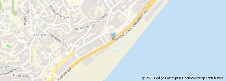 av infante d henrique lisboa mapa Código Postal da Avenida Infante Dom Henrique   Lisboa av infante d henrique lisboa mapa