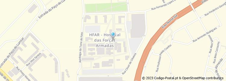 palma de cima lisboa mapa Código Postal do Caminho Palma de Cima   Lisboa palma de cima lisboa mapa