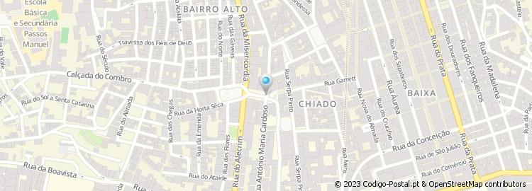 rua do alecrim lisboa mapa Código Postal do Largo do Chiado   Lisboa rua do alecrim lisboa mapa