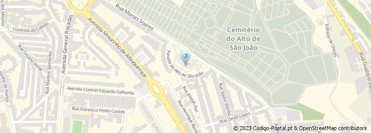 alto de são joão lisboa mapa Código Postal da Parada Alto de São João   Lisboa alto de são joão lisboa mapa
