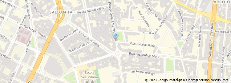 rua d estefania lisboa mapa Código Postal de Praça Ilha do Faial rua d estefania lisboa mapa