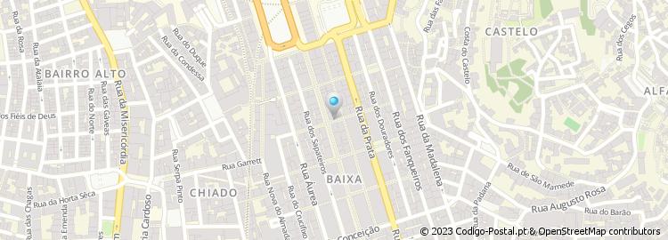 rua da assunção lisboa mapa Código Postal da Rua da Assunção   Lisboa rua da assunção lisboa mapa