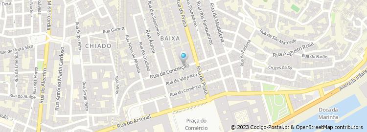 rua da conceição lisboa mapa Código Postal da Rua da Conceição   Lisboa rua da conceição lisboa mapa