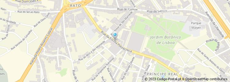 rua da escola politécnica lisboa mapa Código Postal da Rua da Escola Politécnica   Lisboa rua da escola politécnica lisboa mapa