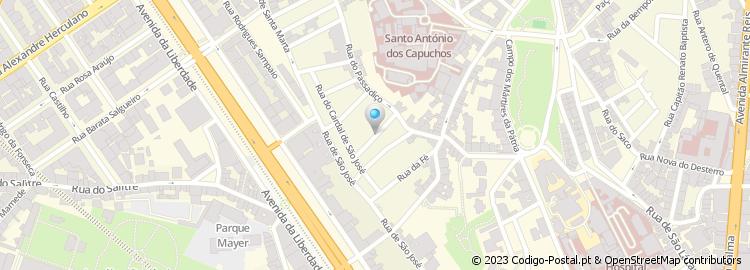 rua da esperança lisboa mapa Código Postal da Rua da Esperança do Cardal   Lisboa rua da esperança lisboa mapa