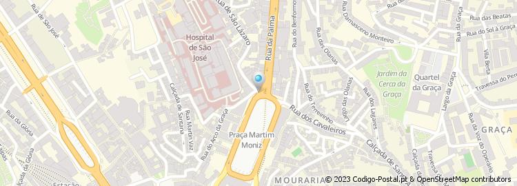 rua da palma lisboa mapa Código Postal da Rua da Palma   Lisboa rua da palma lisboa mapa