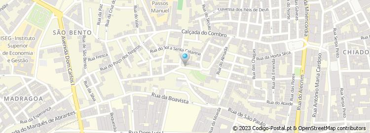 santa catarina lisboa mapa Código Postal da Rua de Santa Catarina   Lisboa santa catarina lisboa mapa