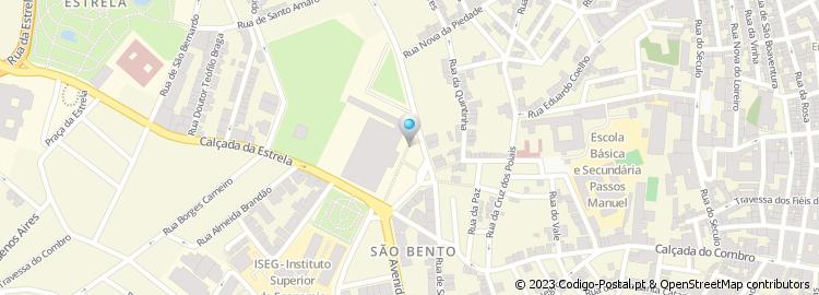 rua de sao bento lisboa mapa Código Postal da Rua de São Bento   Lisboa rua de sao bento lisboa mapa