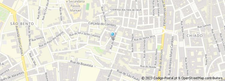 mapa das ruas de almada Código Postal da Rua do Almada   Lisboa mapa das ruas de almada