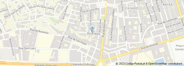 rua do alecrim lisboa mapa Código Postal da Rua do Ataíde   Lisboa rua do alecrim lisboa mapa