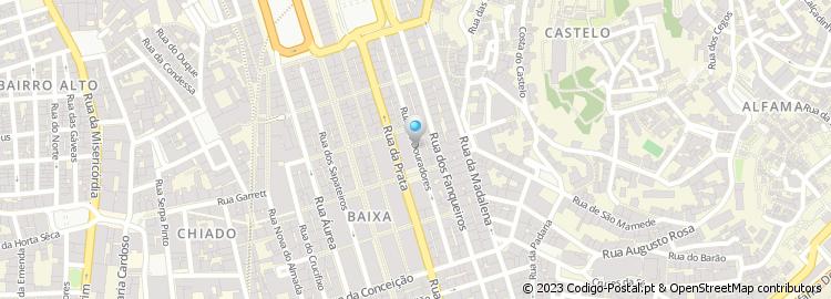 rua dos douradores lisboa mapa Código Postal da Rua dos Douradores   Lisboa rua dos douradores lisboa mapa