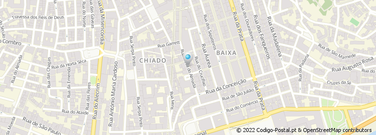 mapa das ruas de almada Código Postal da Rua Nova do Almada   Lisboa mapa das ruas de almada