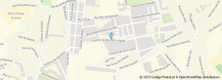 calçada da boa hora mapa Código Postal da Travessa da Boa Hora à Ajuda   Lisboa calçada da boa hora mapa