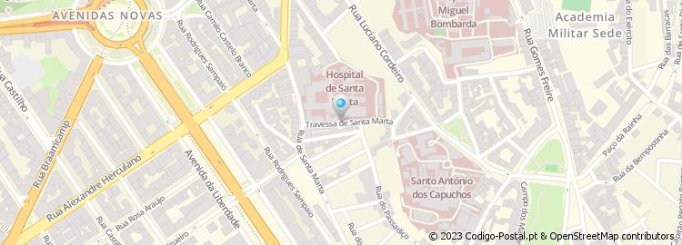 rua santa marta lisboa mapa Código Postal da Travessa de Santa Marta   Lisboa rua santa marta lisboa mapa