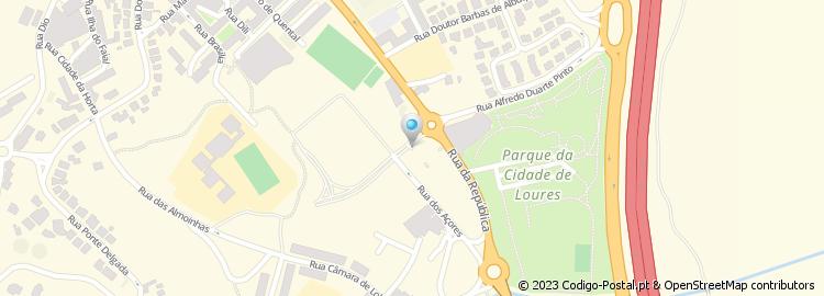 mapa de loures ruas Código Postal da Rua Professor Doutor Afonso Costa   Loures mapa de loures ruas