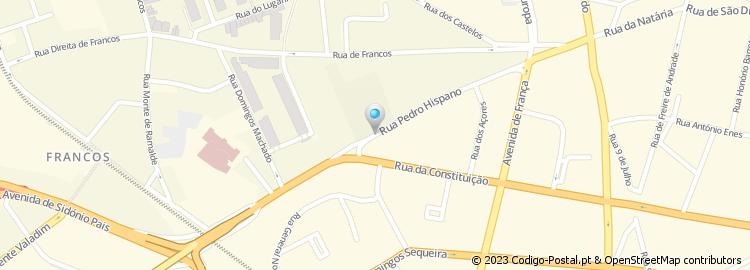 rua pedro hispano porto mapa Código Postal da Rua de Pedro Hispano   Porto rua pedro hispano porto mapa