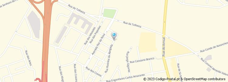 abrigada mapa Código Postal da Rua Florinha da Abrigada   Porto abrigada mapa