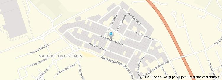 vale ana gomes setubal mapa Código Postal da Rua do Vale Ana Gomes vale ana gomes setubal mapa