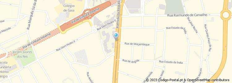 avenida da republica mapa Código Postal da Avenida de República   Vila Nova de Gaia avenida da republica mapa